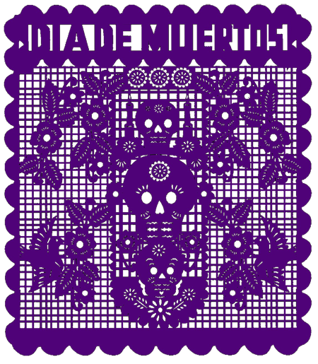 Images: Day Of The Dead Papel Picado.
