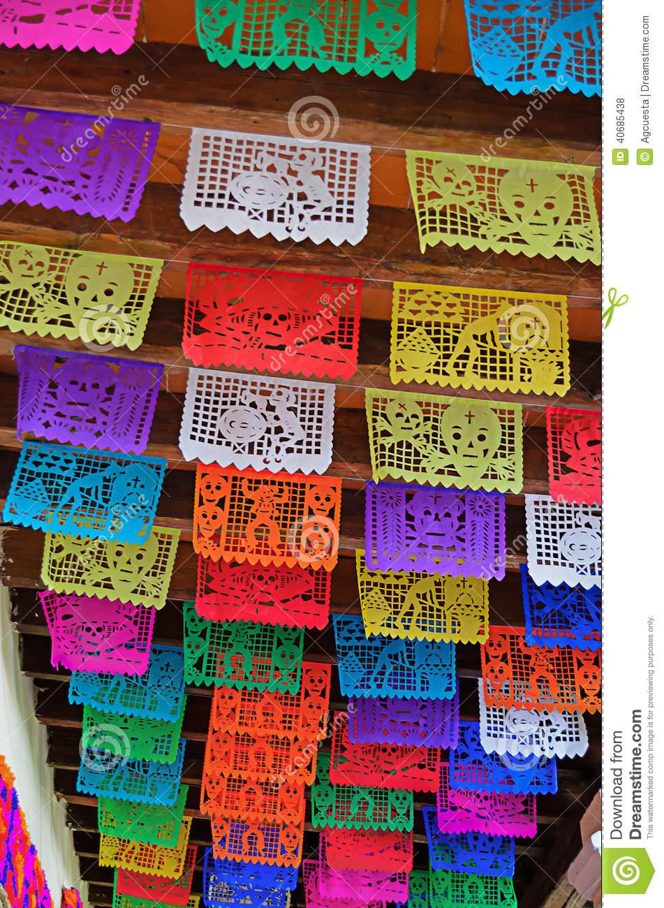 Papel Picado Stock Photo.