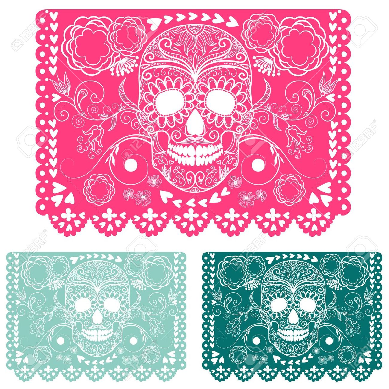 day of the dead papel picado clipart - Clipground