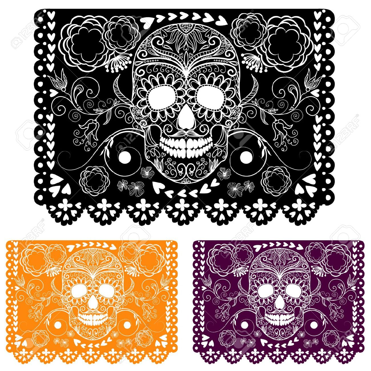Day Of The Dead Papel Picado Clipart.