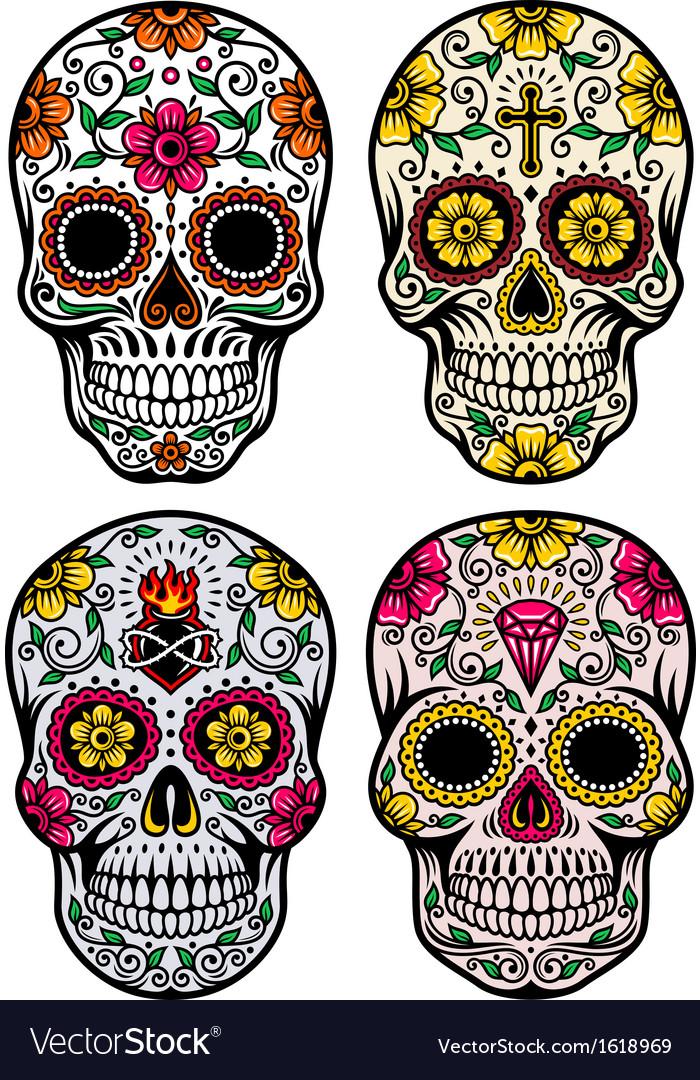 Day of the dead skull set.