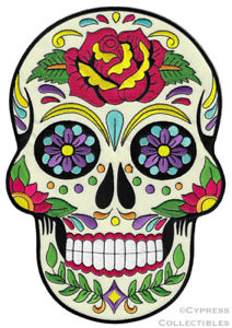 Details about LARGE SUGAR SKULL PATCH iron.