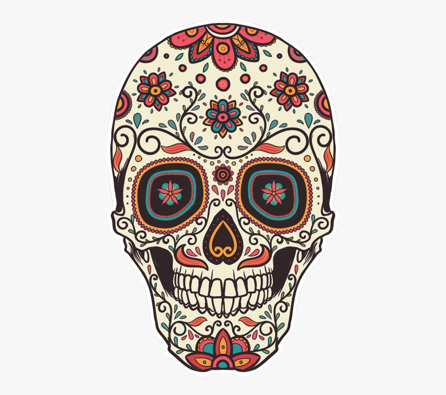 Day Of The Dead Mexico Skull, Cliparts & Cartoons.