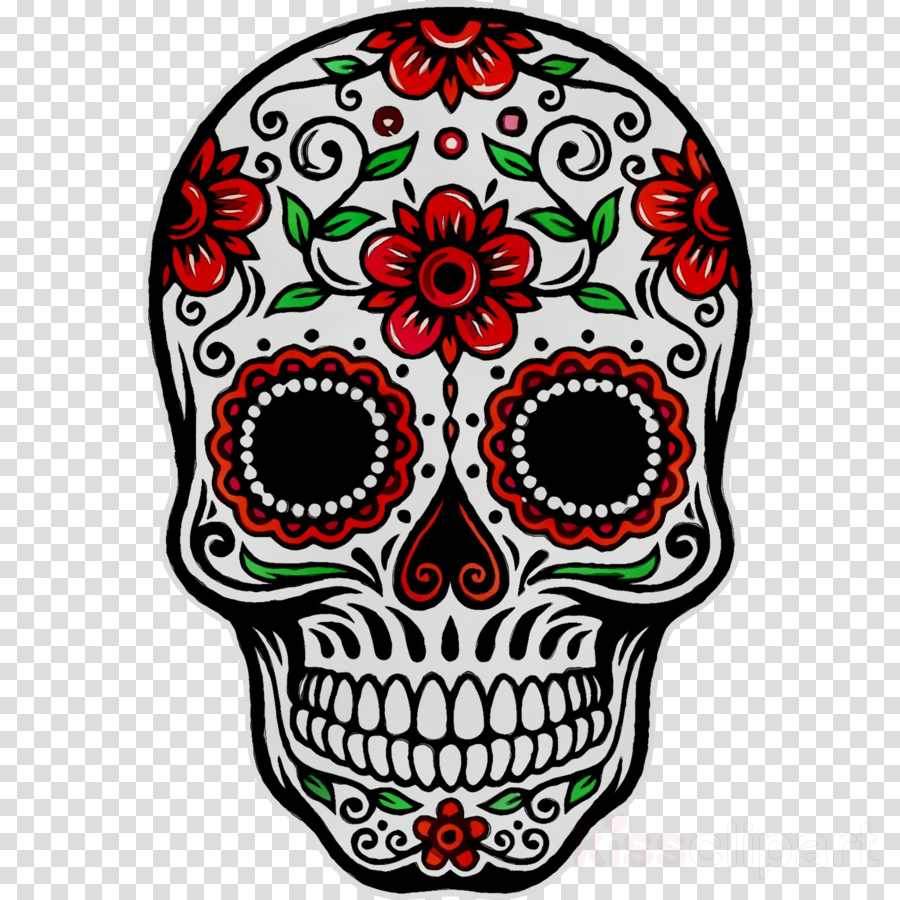 Day Of The Dead Skull clipart.