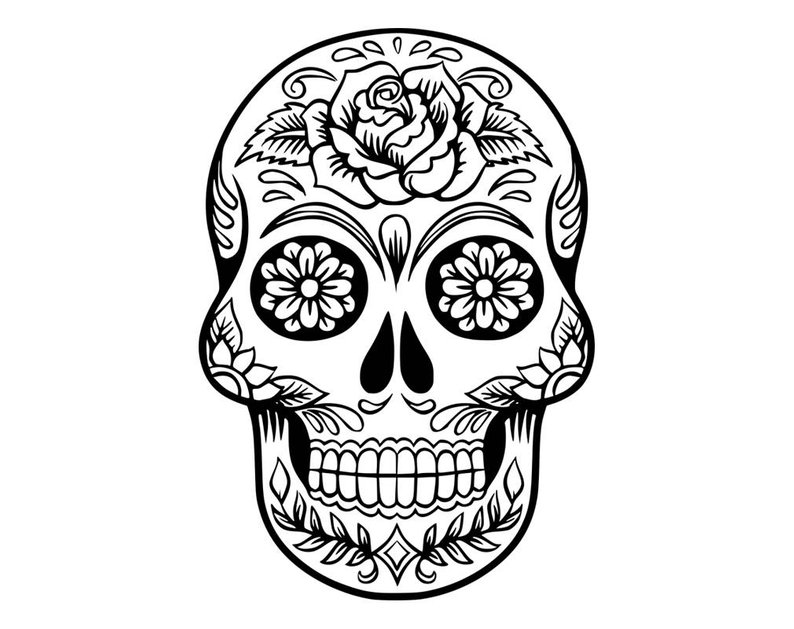 Day Of The Dead Skull Png (+).