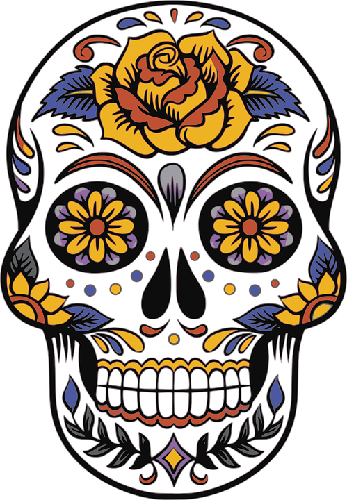 Skull Day Of The Dead Death.