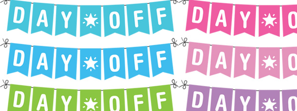 """Day Off"""" Banner Planner Clipart Pack."""