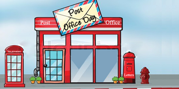 Post Office Day Clipart Image.
