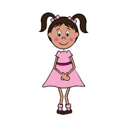 2 year old girl clipart.