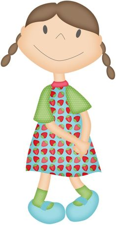 9 year old girl clipart.