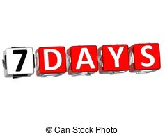 Seven days Clipart and Stock Illustrations. 2,588 Seven days.