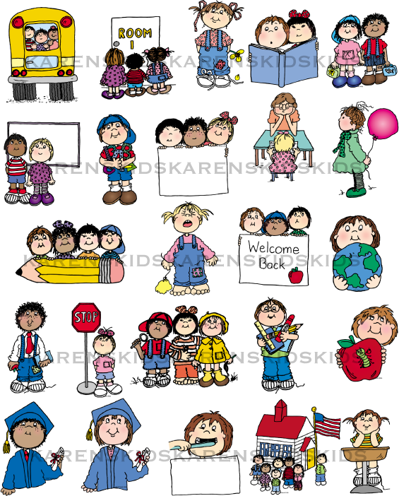 School days clip art.