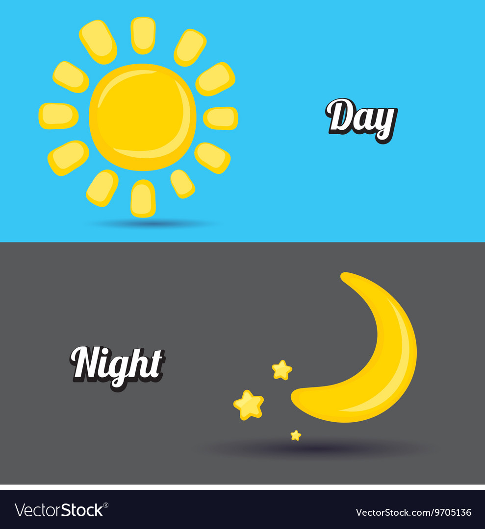 Sun and moon in sky day and night.