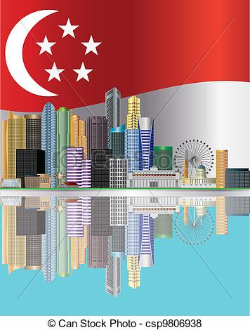 Singapore national day clipart.