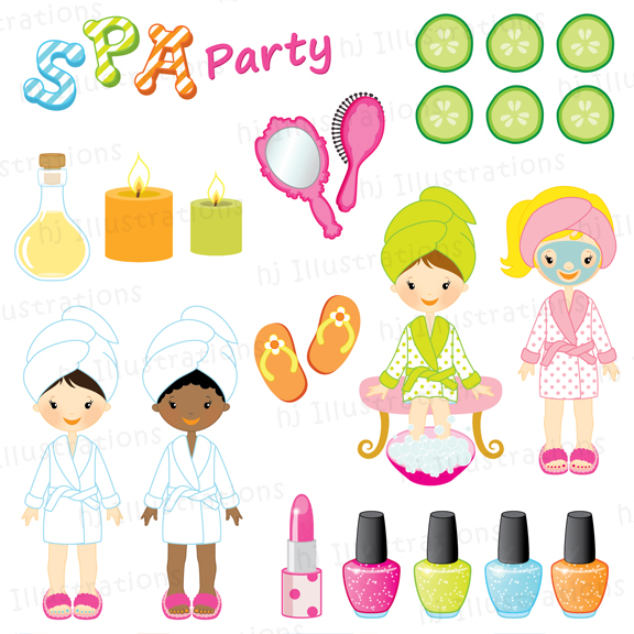 Clipart Spa Party Png.