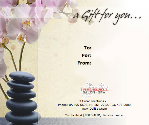 Day Spa Borders Clipart.