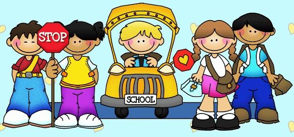 arriving at school clipart #18