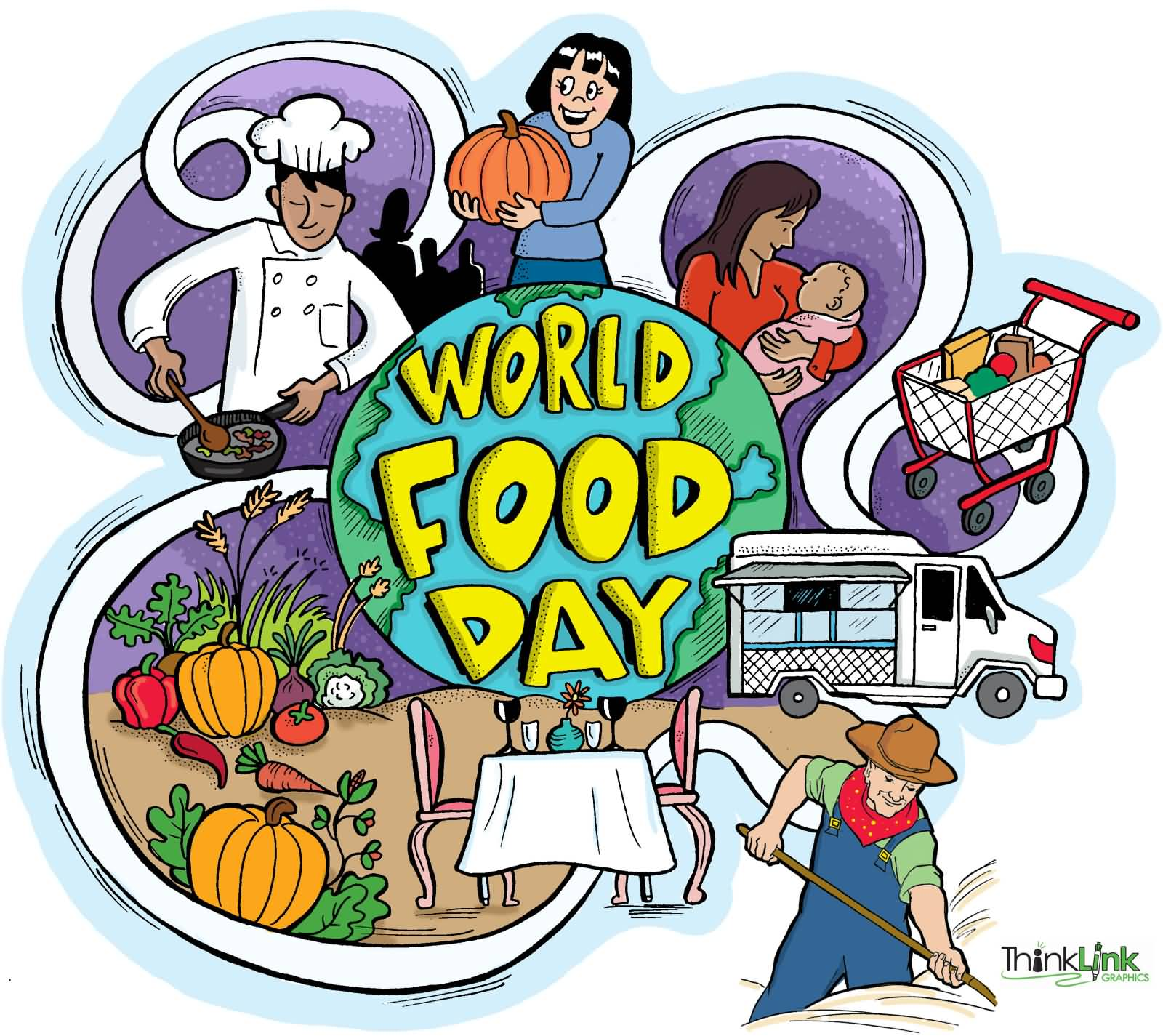 World food tour clipart.
