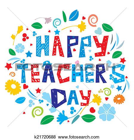 Stock Illustration of Happy Teacher's Day k21720688.