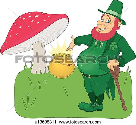 Clipart of St Patricks Day u13698311.