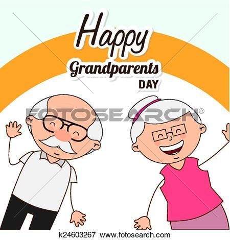 Clip Art of happy grandparents day k24603267.