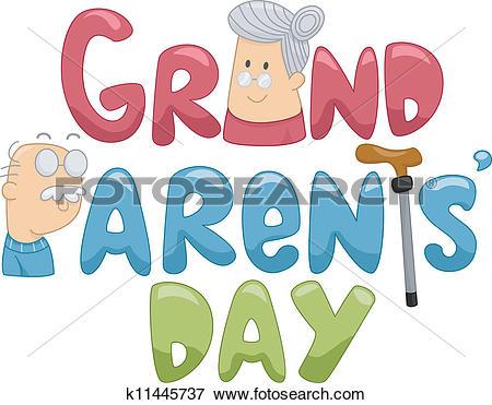 Clip Art of Grandparents' Day k11445737.