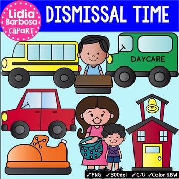 Dismissal Time clip art for Teachers.