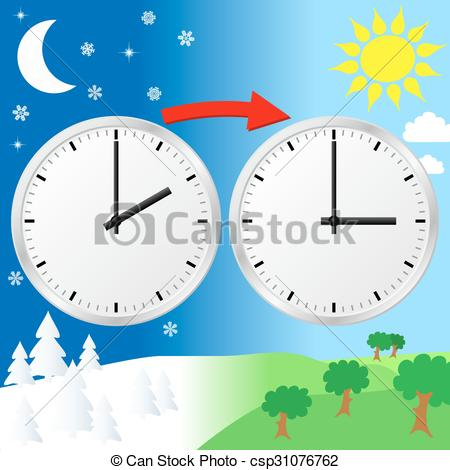 Daylight saving time Vector Clipart Royalty Free. 254 Daylight.