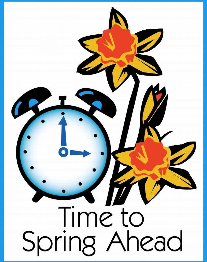 Daylight Savings Time Spring Ahead.