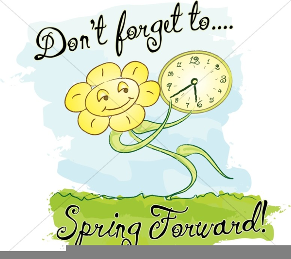 Daylight Savings Time Clipart Spring Forward.