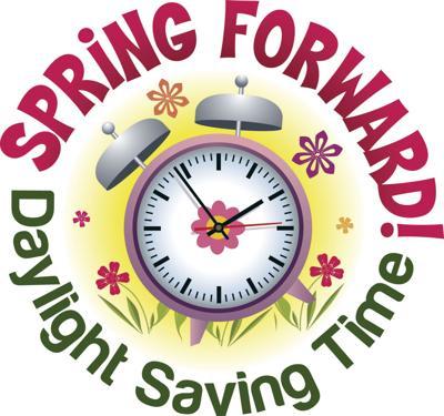 Spring Forward! Daylight Saving Time begins this Sunday..