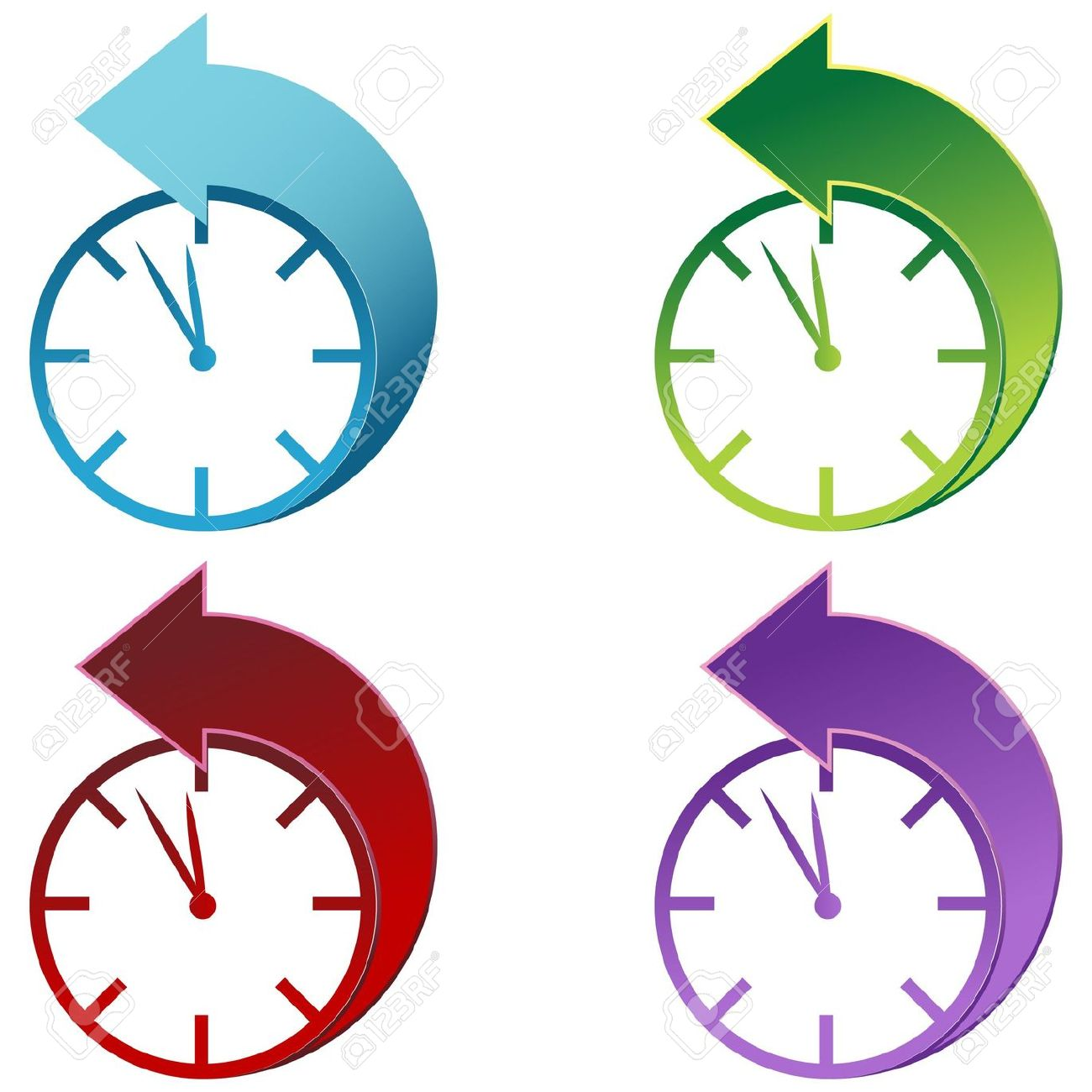 Clipart Daylight Savings Time Clock.