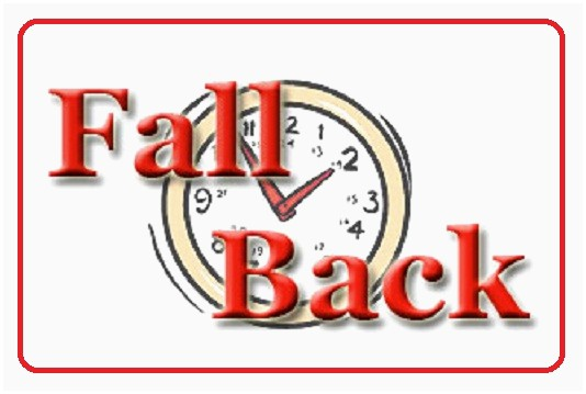 Free Daylight Savings Time Fall Back Clipart.