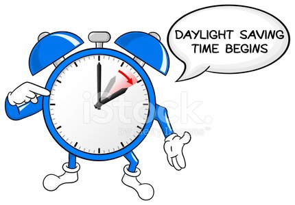 Alarm Clock Change TO Daylight Saving Time premium clipart.