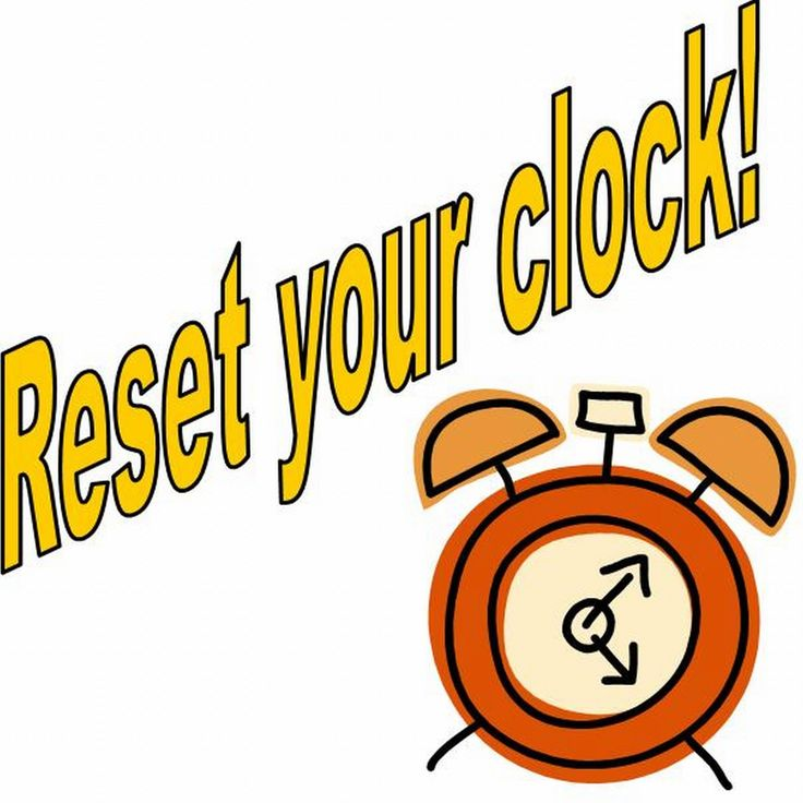 Daylight Savings Time Clipart.