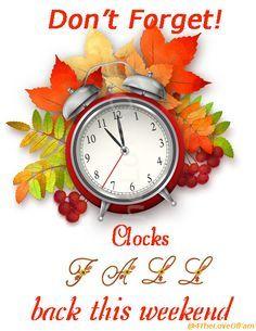 Daylight Savings Time Clipart Fall Back.