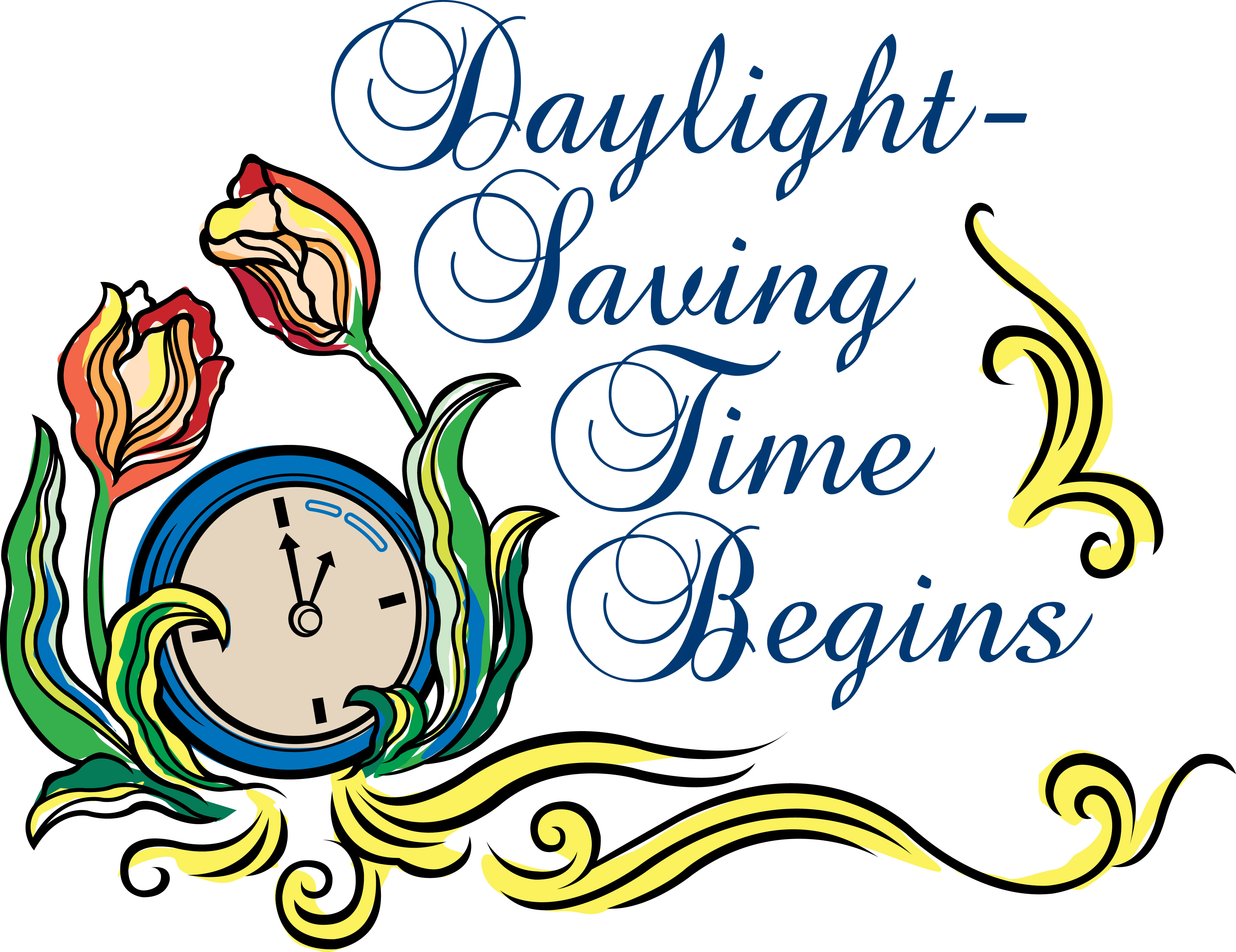 Change Daylight Savings Clipart.