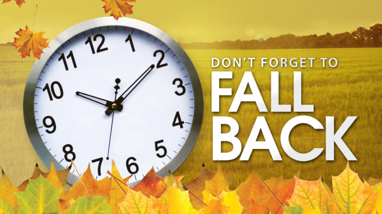 Daylight Saving Time ends this weekend.