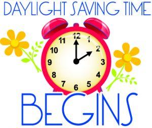Daylight Saving Time Begins Sunday, March 11.