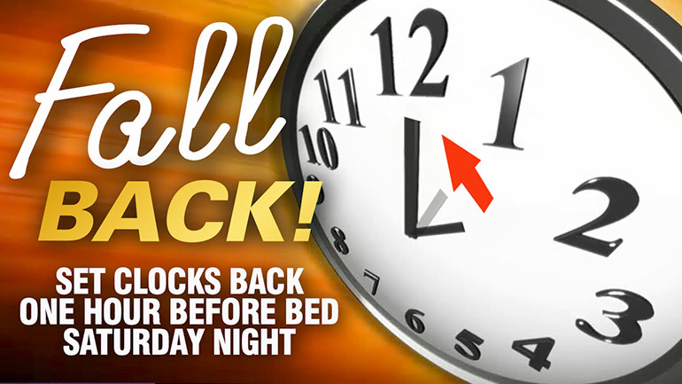 Fall Back Daylight Saving Time Ends Pumpkin Clipart.