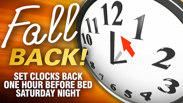 Daylight Savings Time 2018 Clipart Fall Back.