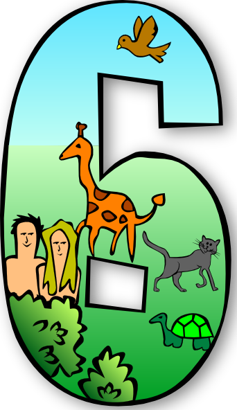 Creation Days Numbers 6 Clip Art at Clker.com.