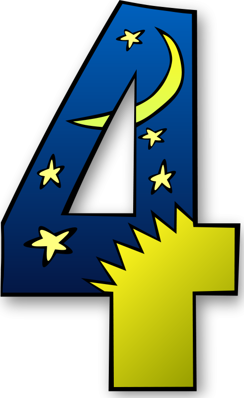 Free Clipart: Creation Days Numbers.