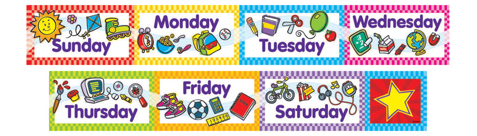 Days of the week clipart 12 » Clipart Station.
