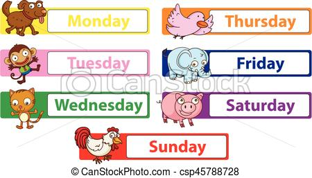 Days of the week Illustrations and Clipart. 3,688 Days of the week.