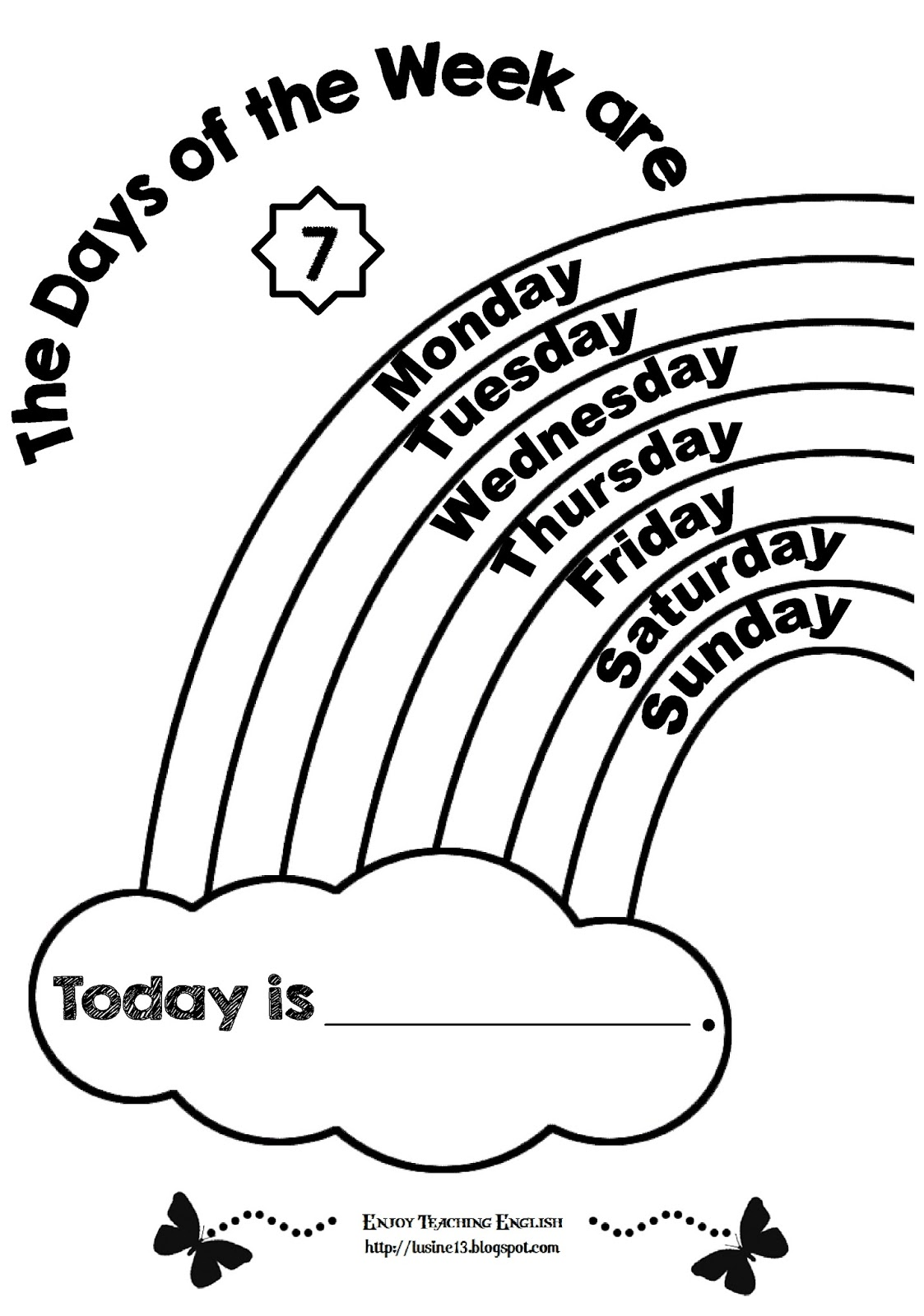 166 Days Of The Week free clipart.