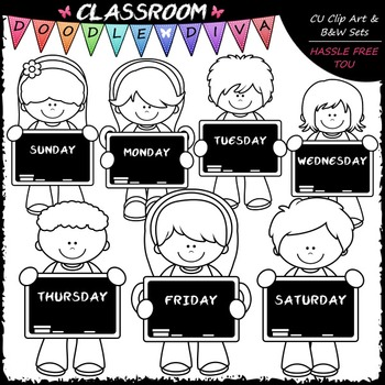 Days of The Week Kids.