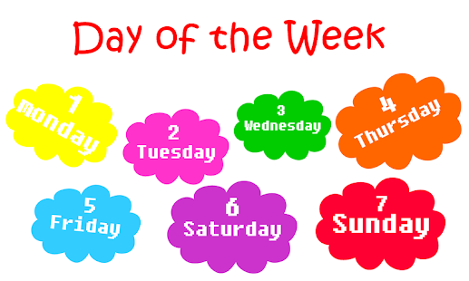 Day of the week png 1 » PNG Image.