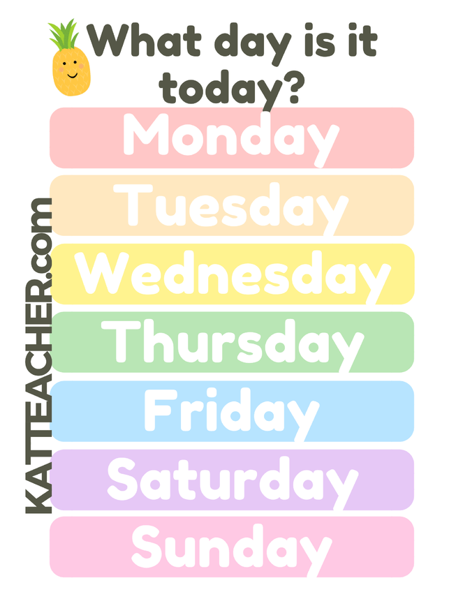 Learning the Days of the Week: English for Beginners and Kids.