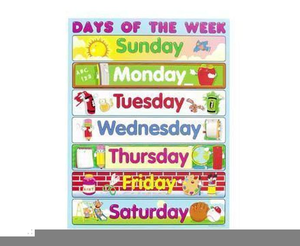 Clipart Days Of The Week.